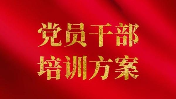 重庆大学党员干部培训方案